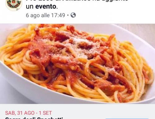 Sagra degli spaghetti all'amatriciana 2019