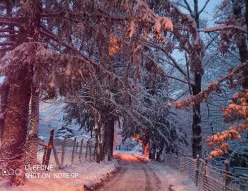 Prima neve ad Amatrice e frazioni